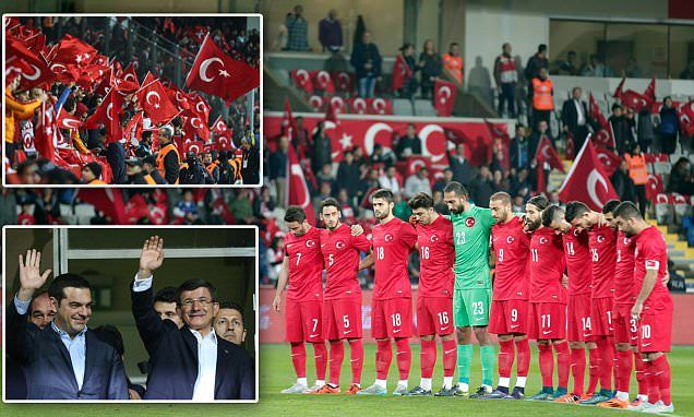Turkey fans BOO minute's silence for Paris attacks victims prior to friendly against Greece in Istanbul | Daily Mail Online