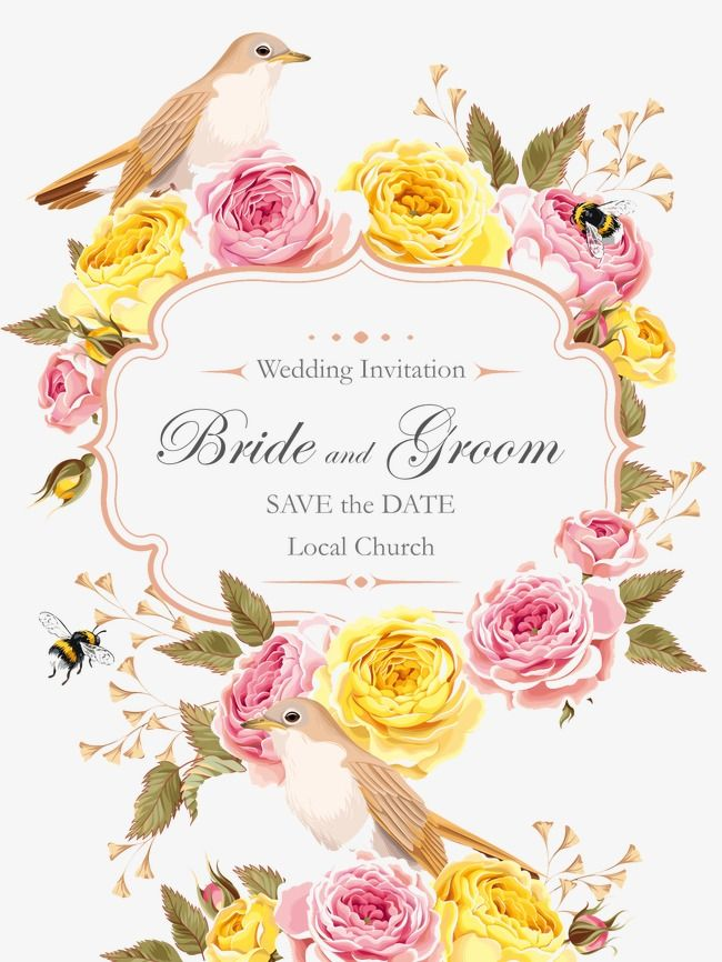 Pattern Wedding Greeting Cards Rose Wedding Invitations