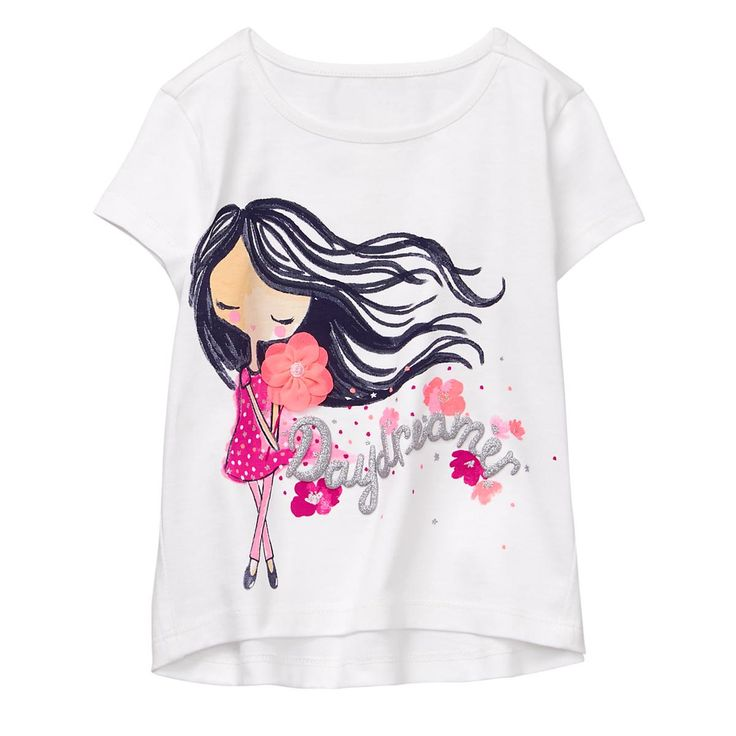 Toddler Girl White Daydreamer Tee by Gymboree