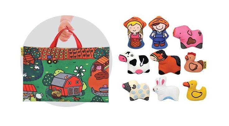 Ks Kids Take Along Farmyard Play Mat http://www.greenanttoysonline.com.au/ks-kids-take-along-farmyard
