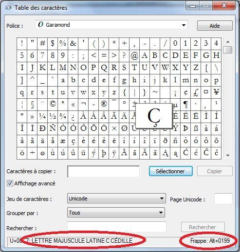Les raccourcis clavier des caractères spéciaux et des accents
