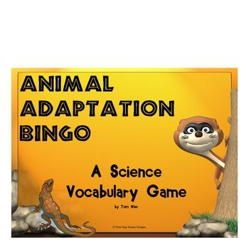 This printable animal adaptations bingo game includes 16 vocabulary words that match most state's science standards.