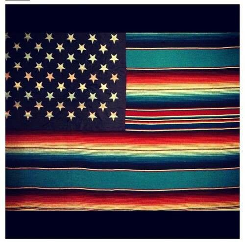 Mexican-American flag