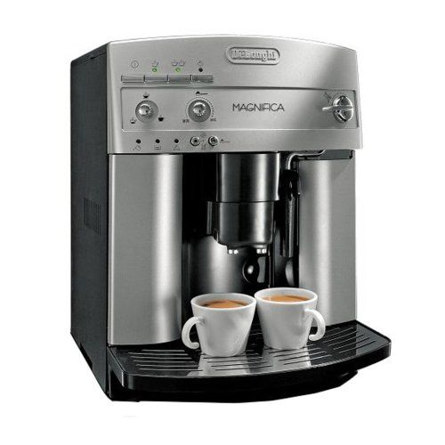 "Espresso Machines by Delonghi The DeLonghi ESAM3300 Magnifica Super-Automatic Espresso/Coffee Machine is great for making espresso, coffee, cappuccinos, latte drinks and more.  It grinds beans instantly with its patented compact and easy-to-clean ""Direct-to-Brew"" system."
