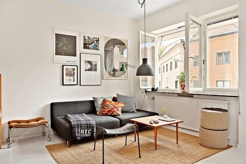 swede-land apartments are coolness: Living Rooms, Small Apartment, Apartment Design, Girls Styles, Interiors Design, Cars Girls, Apartment Living, Small Spaces, Art Wall