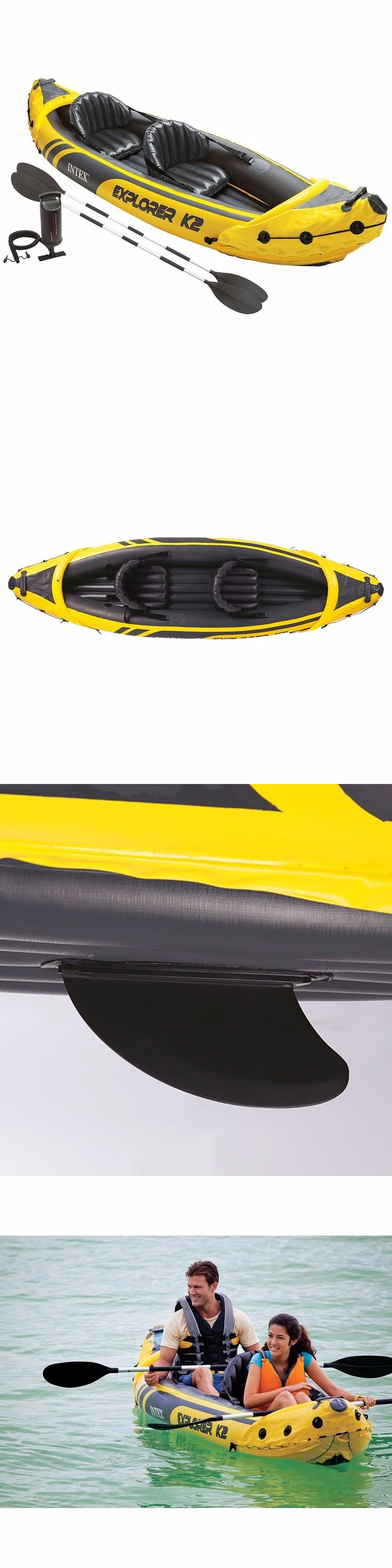 Inflatables 87090: Intex Explorer K2 Kayak, 2-Person Inflatable Kayak Set With Aluminum Oars And Pump -> BUY IT NOW ONLY: $93.99 on eBay!