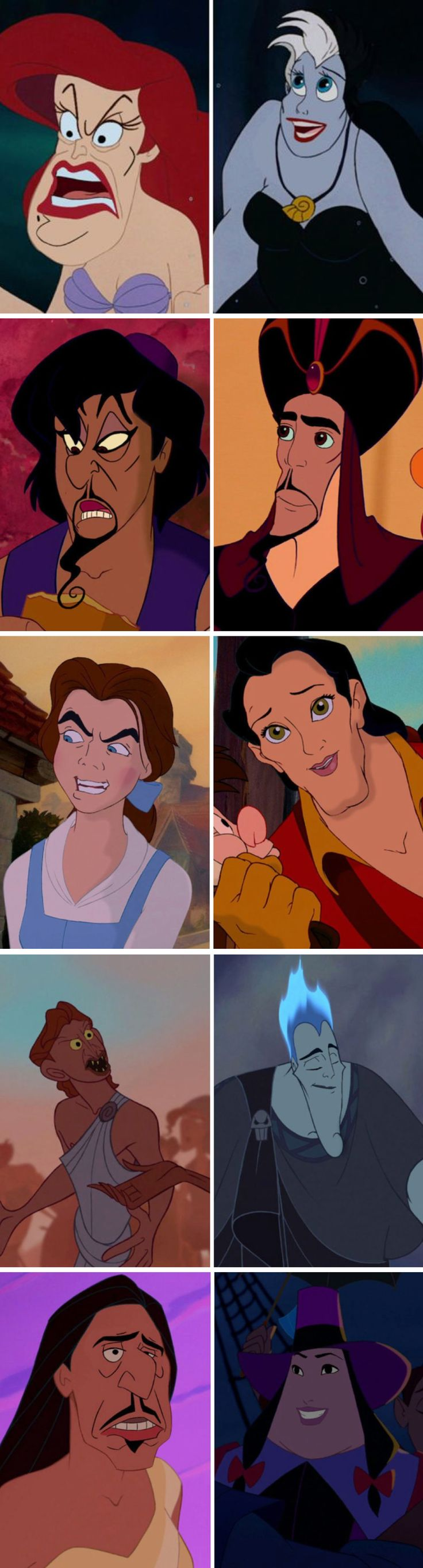 Creepy Disney hero / villain face swap