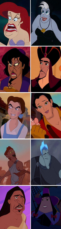 Creepy Disney hero / villain face swap