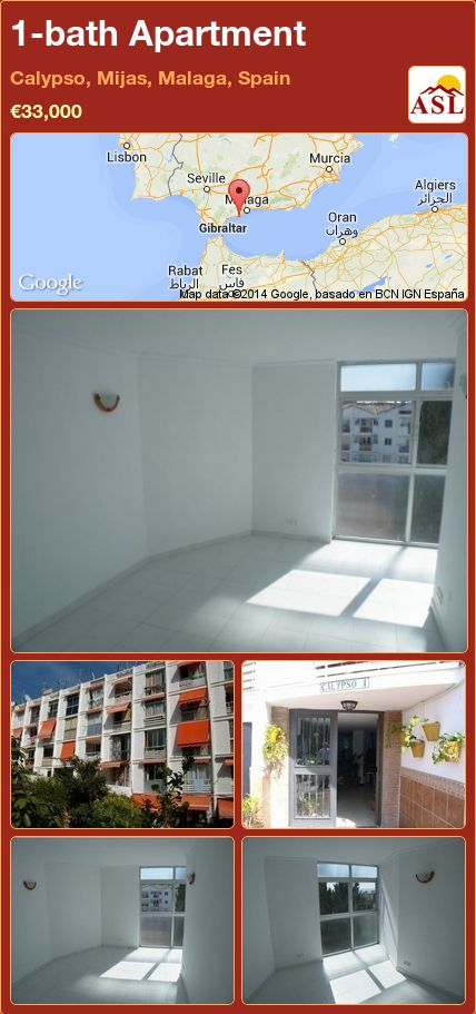 1-bath Apartment in Calypso, Mijas, Malaga, Spain ►€33,000 #PropertyForSaleInSpain