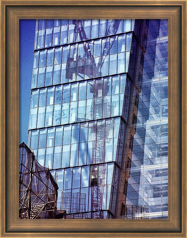Framed Print featuring the photograph New York City Skyscraper Art 2 by Judi Saunders. Many styles and colors of frame available.