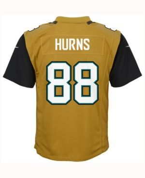 Nike Allen Hurns Jacksonville Jaguars Color Rush Jersey, Big Boys (8-20), Big Boys (8-20) - Gold