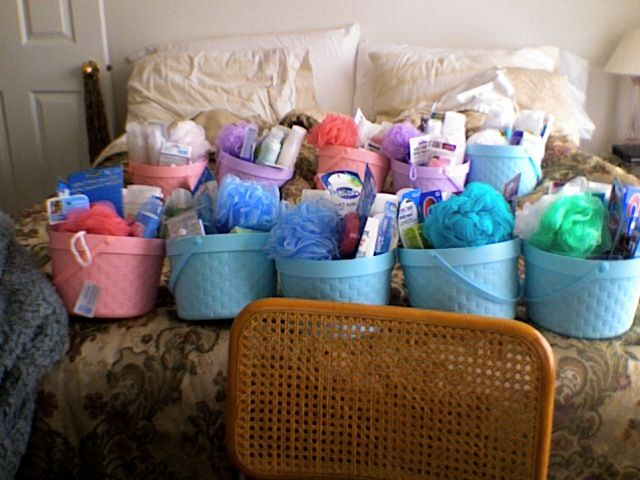 Bath and Body Baskets donated to a local women's shelter.