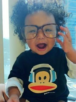 Nerd Babies!  Curly Hair  Cutie!