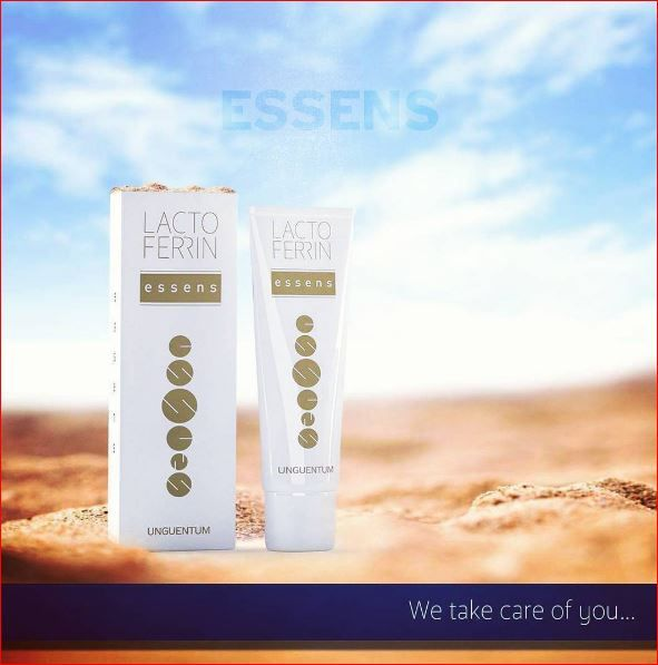LACTOFERRIN is a protein, which occurs naturally in the human body. When to apply ESSENS LACTOFERRIN UNGUENTUM?	Skin injury (Herpes, aphthae, cracked corners of the mouth, Calming reddened skin around the nose during a cold). #essens #forcold #forskin #forhim #skincell #skin #applynow  #lactoferrin #naturally #forhuman #forbody #effective #protein #blood #bloodcell #whitebloodcells #bloodplasma #antimicrobial #anyreaction - http://essensclub.cz/registrace/essens-free-online-registration/