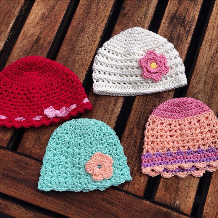 Premature baby mutsjes voor Marlijn  #crochet #baby #byclaire #dmc #hakenship #babybeanie