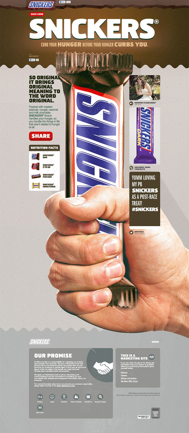 Snickers.com | #webdesign #it #web #design #layout #userinterface #website #webdesign < repinned by www.BlickeDeeler.de | Take a look at www.WebsiteDesign-Hamburg.de