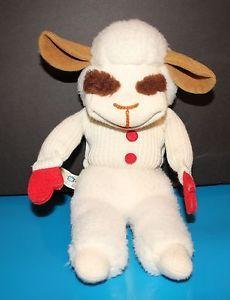 a lamb chop 15 plush stuffed animal hand puppet shari lewis hasbro vintage 1986