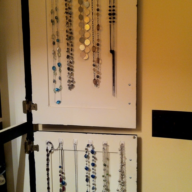A great way to organize and hide jewlry!