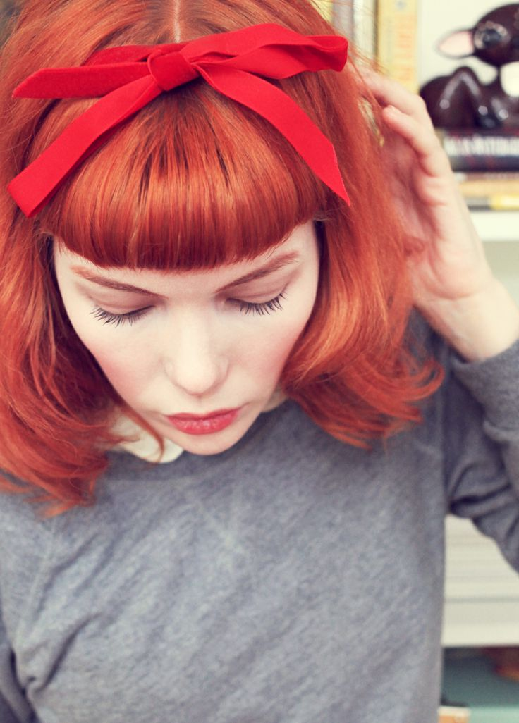 Emily Dahl red hair and red hair bow