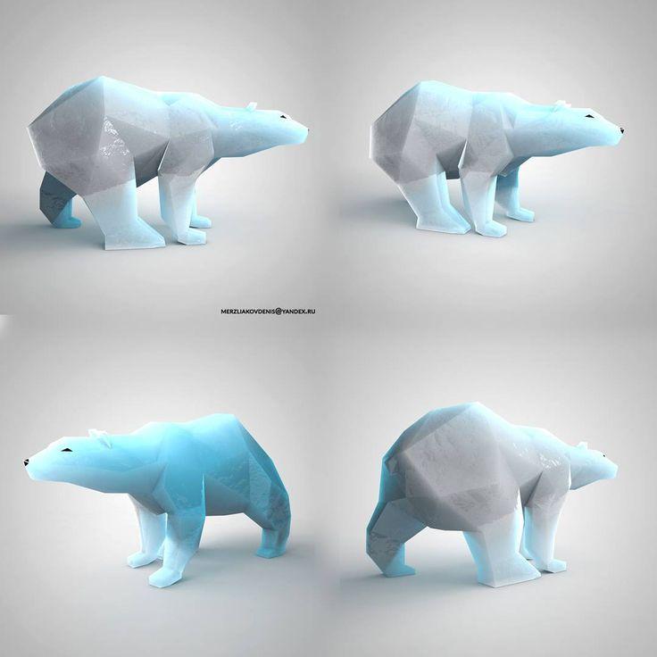 56 отметок «Нравится», 5 комментариев — мерзляков (@denismerzliakov) в Instagram: «#ice #blue #3dprinting #bear #anatomy #model #polarbear #top #animalanatomy #motiongraphics #zoo…»