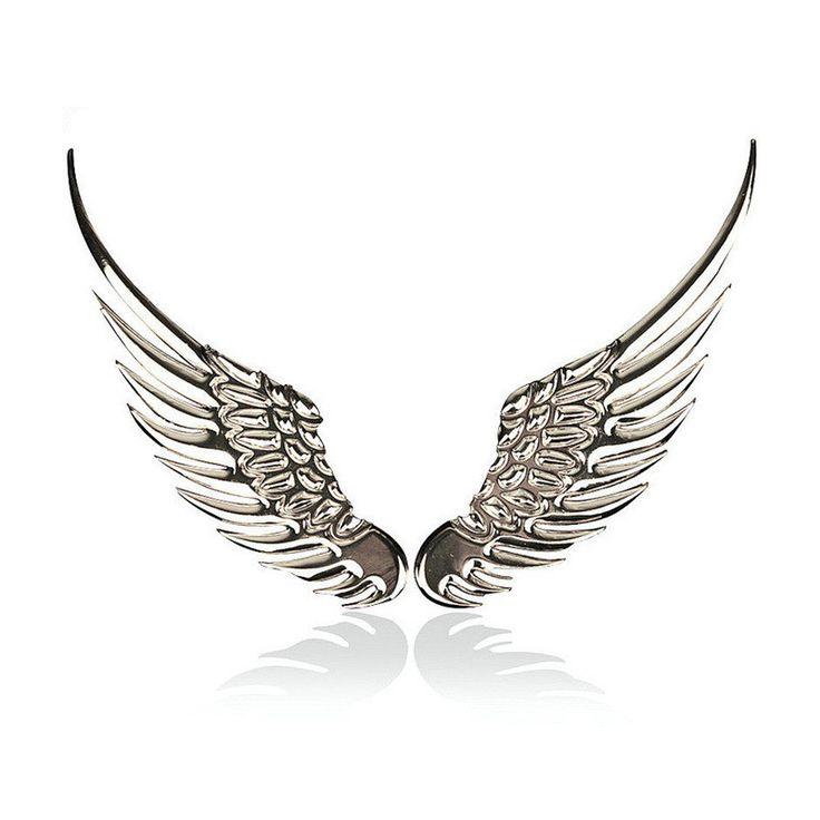 Car Stickers Metal Eagle Angel Wings Auto Logo Motorcycle Sticker