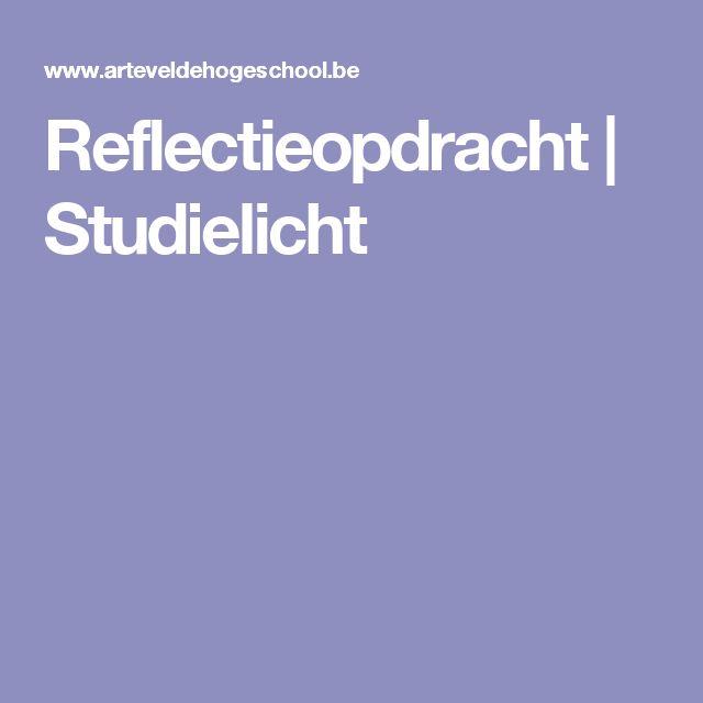 Reflectieopdracht | Studielicht