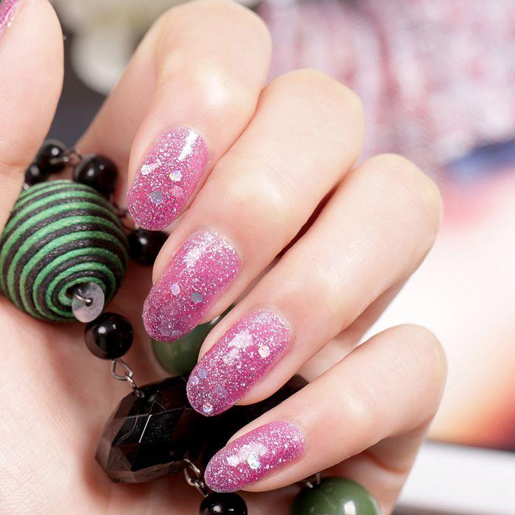 Лак для ногтей мечта фиолетовый блестки L06 15 мл