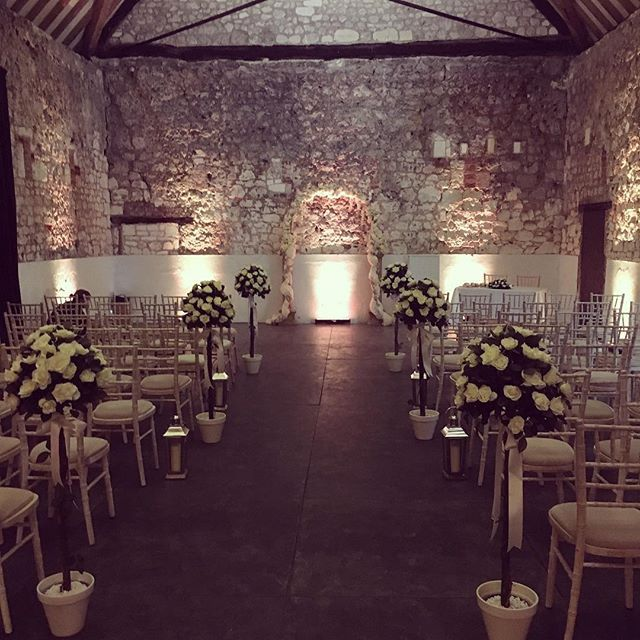 Ceremony Room setup before the big day....Monks Barn  #homecounties #monksbarn…
