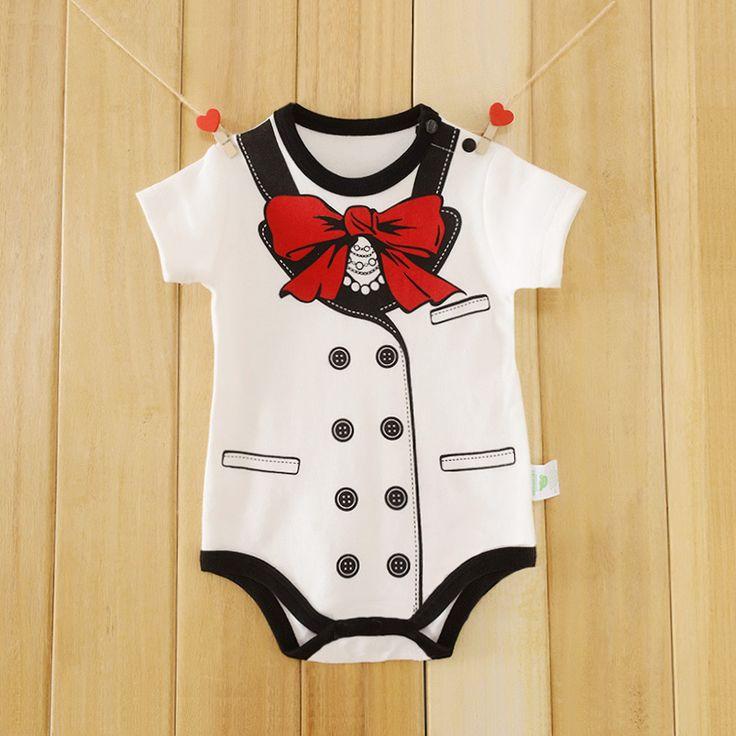 Brand Baby Romper One-Pieces Cotton Baby Boy Girl Gentleman Romper Short Sleeve Summer Overalls Next Baby Newborn Clothes Body