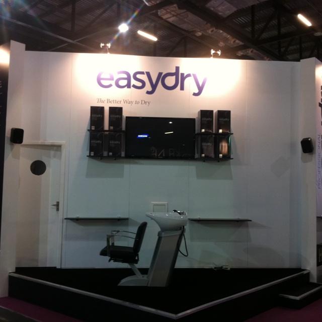 Easydry stand at Salon International 2012. Stand # J205. @easydryintl @salon_Intl