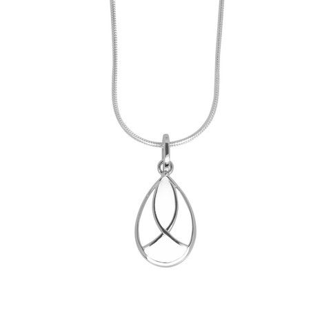 Emile pendant white | ANTIKA See full range of resin and sterling silver jewellery on www.antikasilver.com.