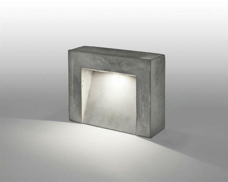 22 best bollard light images on pinterest exterior for Diy concrete lamp