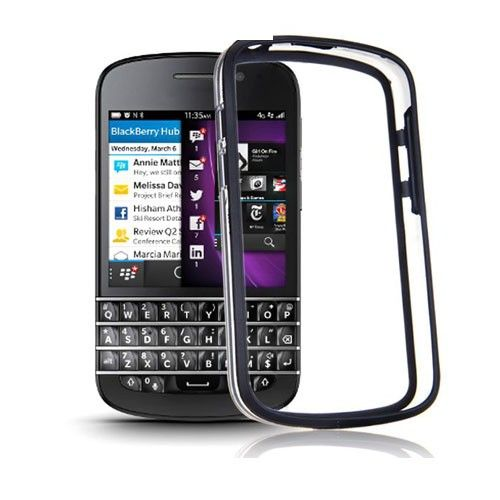 ClearBumper (Black) Blackberry Q10 Bumper