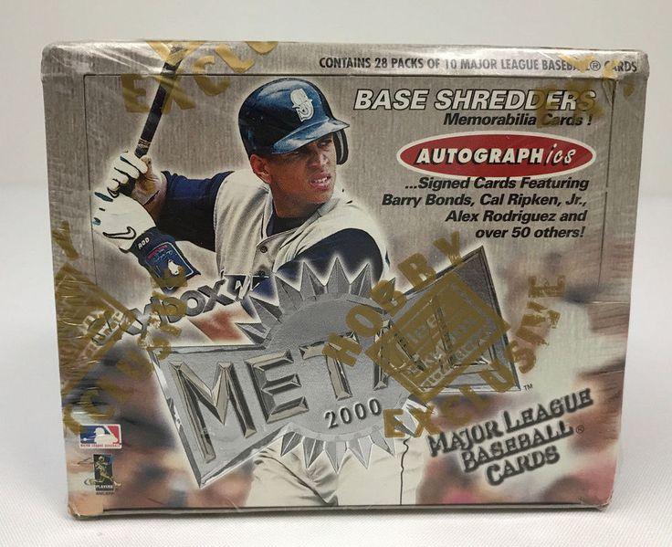 2000 Fleer Skybox Metal Factory Sealed Baseball Hobby Box MLB Base Shedder NEW #Fleer
