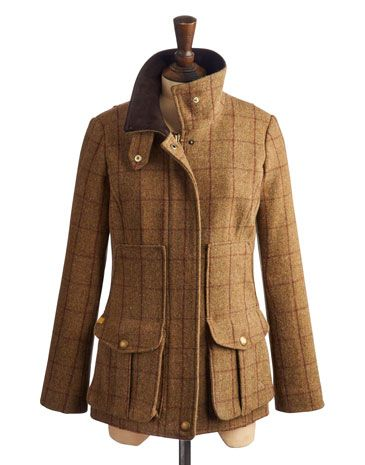 Joules null Womens Tweed Fieldcoat, Holker Tweed.                     Set this tweed new women's country sports coat firmly in your sights and capture true country style. Completely timeless and made to laseason, after season. In rugged tweed and complete with the functional features and delightful details you've come to know and love. A true Joules classic. #Joules #Christmas #Wishlist