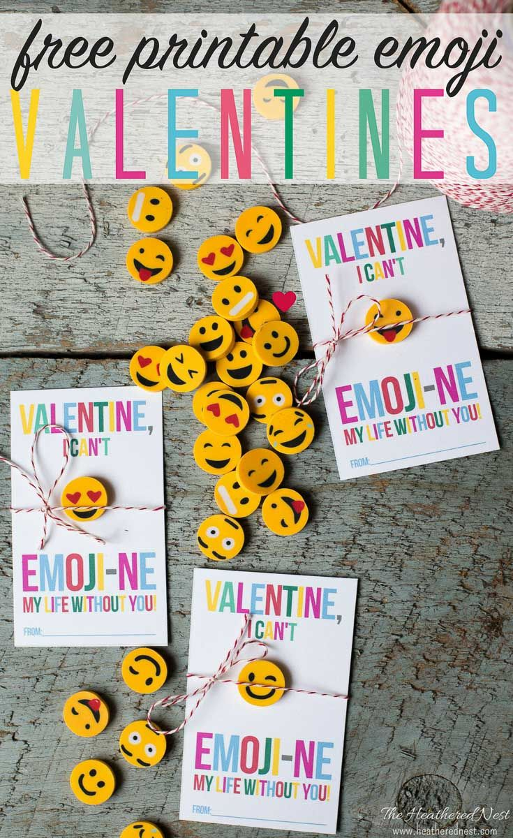 what kid wouldn't love an emoji valentine?! Emoji free printable valentines! If your school is doing the no candy rule for this year's #valentineparty then this #emojivalentine is perfect! #freeprintablevalentine #emojivalentines #freedownloadvalentine #nocandyvalentines #DIYvalentines #nocandyvalentineideas #nocandyvalentineideasforkids