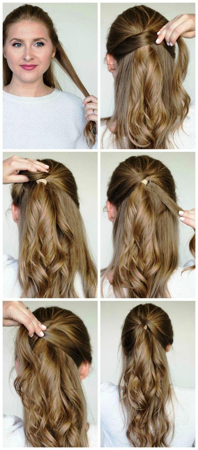 Einfache Party-Frisuren für langes Haar - Schritt für Schritt 12