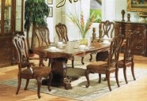7pc Formal Dining Table & Chairs Set Cherry Finish