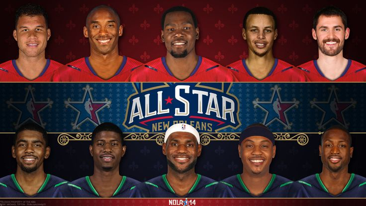 Quintetti base dell'All Star Game 2014. Ovest: Blake Griffin, Kobe Bryant, Kevin Durant, Stephen Curry e Kevin Love. Est: Kyrie Irving, Paul George, Lebron James, Carmelo Anthony e Dwyane Wade.
