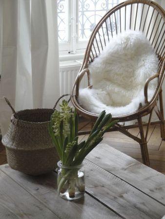 fauteuil en rotin d'époque Esprit champêtre via Nat et nature