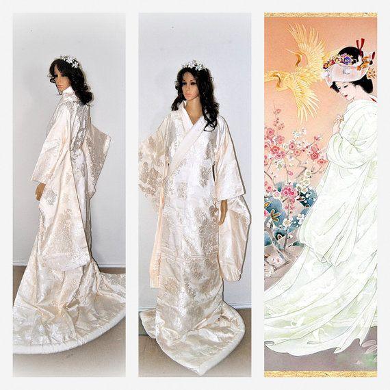 FINAL 10%OFF Kokuho Wedding Kimono Japanese Silk by EventOutlet
