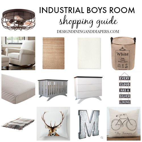 Industrial Boys Room Shopping Guide