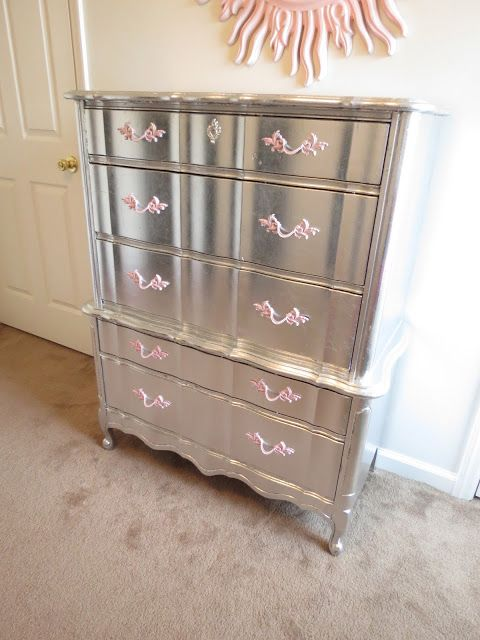 Elegantly Done: Aluminum (Silver) Leafed French Provincial Furniture... COMPLETED