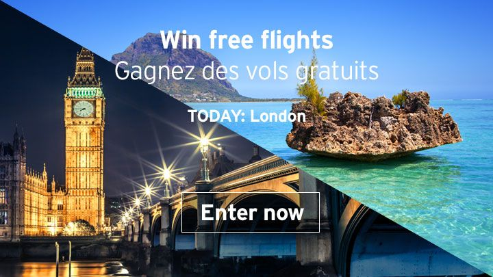 You should enter Air Mauritius 14 Day ticket giveaway. Air Mauritius are giving away Mauritius flights to/from London today and I think one of us could win!