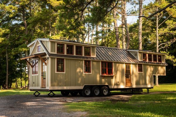 Super Spacious 42 Foot Tiny Home On Wheels The Denali Xl By Timbercraft Tiny Homes Timbercraft Tiny Homes Tiny House Exterior Tiny House