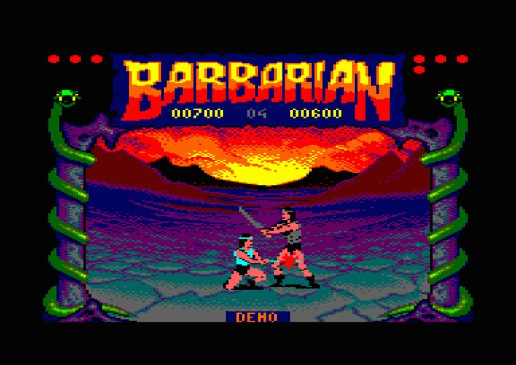 Barbarian game # amstrad cpc 6128