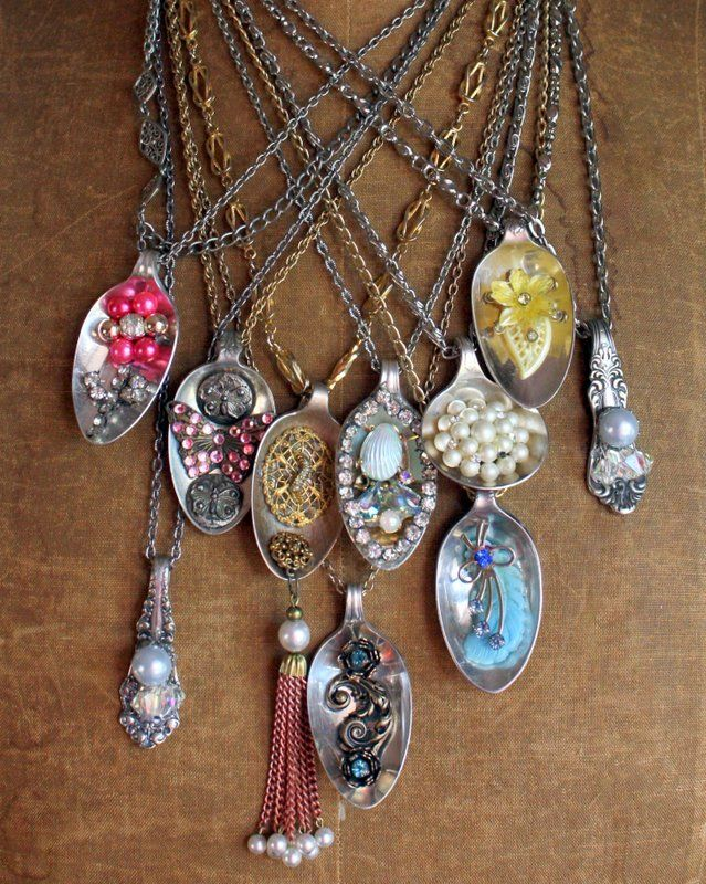 embellished spoon necklaces