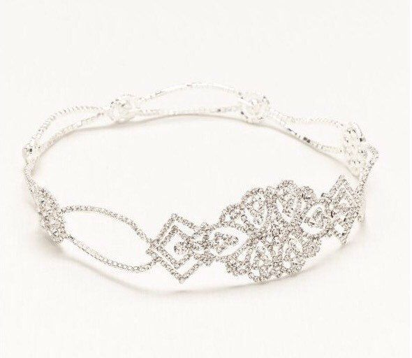 Crystal Headband, Silver Headband, Bridal Headpiece, Bridal Headband, Wedding Headpiece, Wedding Headband, Bridal Tiara, Art Deco Headband by HaniFashion on Etsy https://www.etsy.com/listing/469952307/crystal-headband-silver-headband-bridal