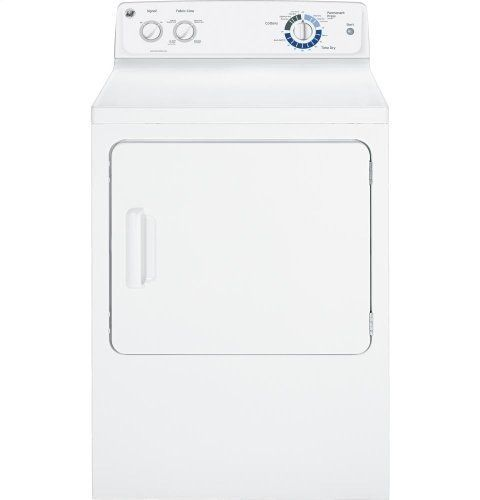 6.0 Cu. Ft. Capacity DuraDrum Electric Dryer – White Reviews           $ 535.99 Dryers Product Features 6.0 cu. ft. DuraDrum electric dryer DuraDrum interior provides long-lasting dependability 4 heat selections provide the right temperature for your clothes-drying needs Quick Fluff delivers ready-to-go results in minute without heat Variable end-of-cycle signal offers added flexibility Dryers Product Description Package Content: Dryermanualwarranty Auto Dry monitors air temp..