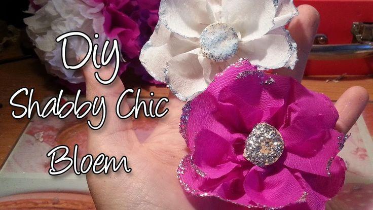 Hoe maak je een Shabby Chic Crepe papier bloem? Glitterend!